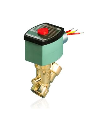 ASCO 8030G017 120/60AC 2-Way Brass 1/2 In Solenoid Valve, Normally Closed, Low Pressure