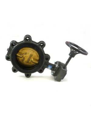 6 In Cast Iron 150 LB Lugged Butterfly Valve with Gear Op, Bronze Disc, EPDM Seat, Milwaukee CL323E