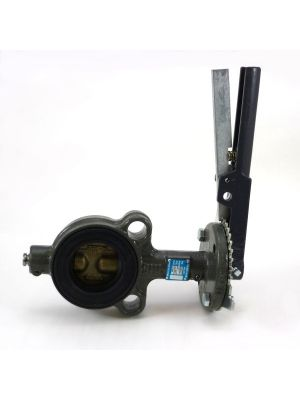 5 In Cast Iron 150 LB Wafer Butterfly Valve with Lever, Bronze Disc, EPDM Seat, Milwaukee CW223E