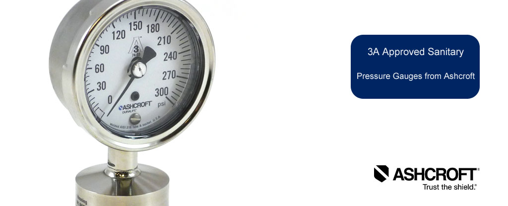 Ashcroft 3A Approved Sanitary Pressure Gauges