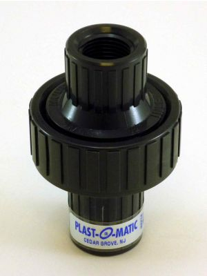 1/2 IN Plastomatic CKM050V-PV PVC Check Valve