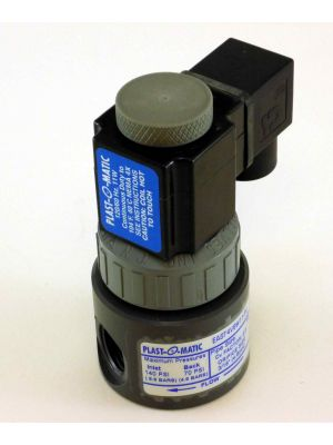 1/2 IN Plastomatic EAST4V6W11-PV PVC SOLENOID VALVE 120/60 AC