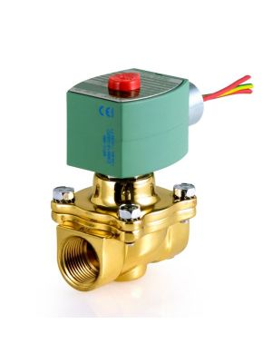 ASCO 8210G009 24/60AC 2-Way Brass 3/4 In Solenoid Valve, Normally Closed, General Service