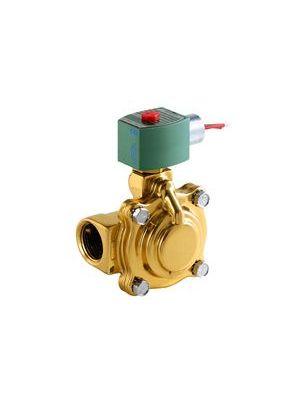ASCO 8220G027 120/60AC 2-Way Brass 1-1/4 In Solenoid Valve, Normally Closed, Hot Water & Steam
