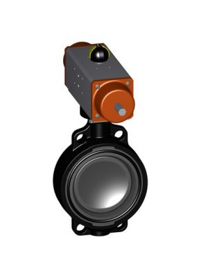 GF 199240007, 6 In Type 240 PVC / EPDM Butterfly Valve with Pneumatic Fail Close Actuator