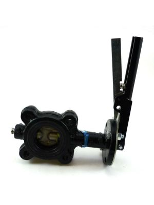 2 In Cast Iron 150 LB Lugged Butterfly Valve with Lever, SS Disc, EPDM Seat, Milwaukee ML224E