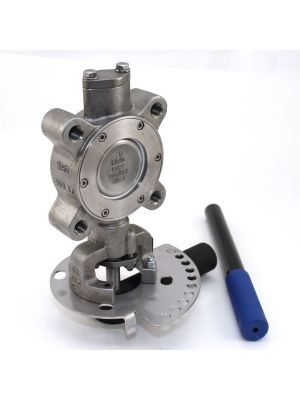2-1/2 In SS Lugged High Performance Butterfly Valve with Lever, SS Disc, Milwaukee HP1LSS4212