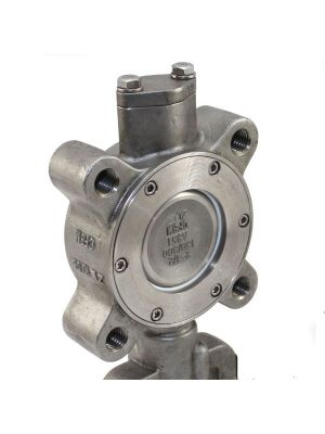 4 In SS 150 LB Lugged High Performance Butterfly Valve with Gear Op, SS Disc, Milwaukee HP1LSS4213