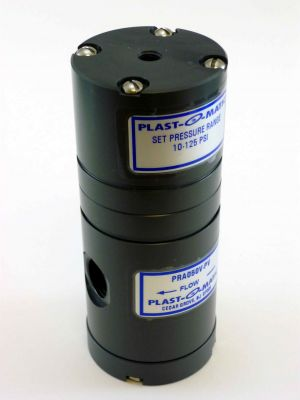 1/2 IN Plastomatic PRA050V-PV PVC Pressure Regulator